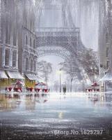 Искусство для продажи дождь в Париже от Brent Lynch холст ручной работы высокого качества