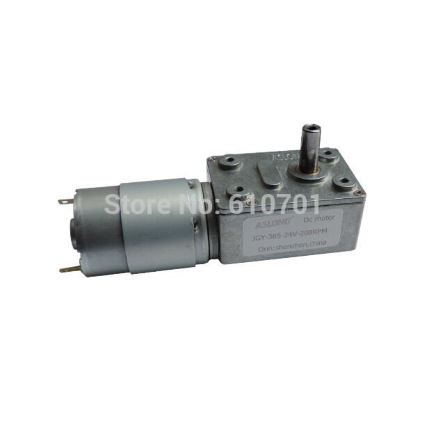 6 24V 24V Rated Voltage Rectangle Worm Gear Box 2 Terminal Electric DC Geared Motor JGY 385 200rpm 50rpm 23rpm 13rpm 8rpm