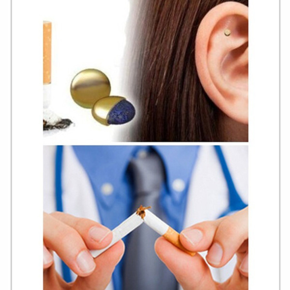 Dropshipping 2018 Health Care Magnet Auricular Quit Smoking Acupressure Patch No Cigarettes Health Therapy Toiletry Kits