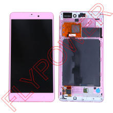 For XiaoMi NOTE HD 5.7 inch LCD Display +Digitizer touch Screen with Frame Assembly pink by Free Shipping
