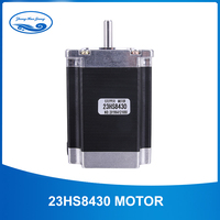 Free shipping Nema 23 Stepper Motor 2 phase 4 Leads 270 Oz in/180Ncm 76mm CNC 3D Printer 23HS8430 1.8deg