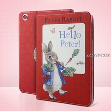 For New iPad 9.7 2017,Cartoon Peter Rabbit Tablet Case For apple iPad Air 1/Air 2/Pro 9.7″ Univers Auto Sleep / Wake Shell Cover