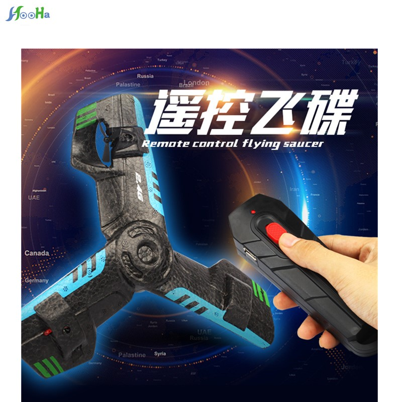 2.4g Aircraft Flying Saucer Remote Control Toy Rotating Durable Aircraft Triangle Toys Children Gappy Birthday Gift To Assure Years Of Trouble-Free Service