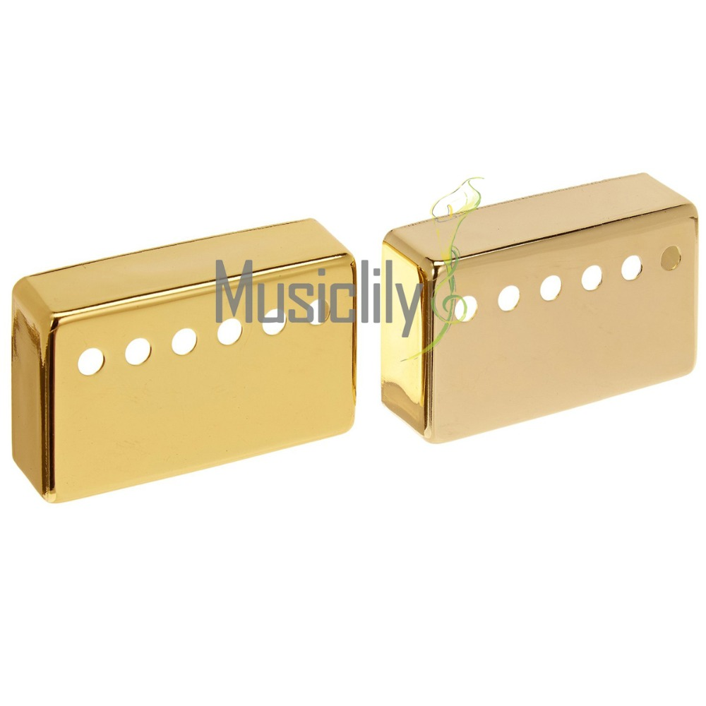 Musiclily Multiple Color Metal Humbucker Guitar Neck Bridge Pickup Covers 50 mm & 52 mm Set for Electric Guitar guitar pickup humbucker gold double coil pickups electric guitar parts accessories bridge