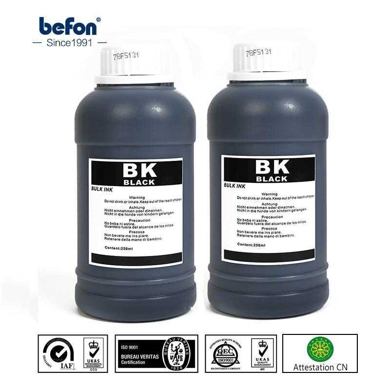 Универсальный чернильный набор befon 250 мл, совместимый с HP Canon Epson Brother, Принтеры DeskJet Tank, чернильные картриджи ciss Ink