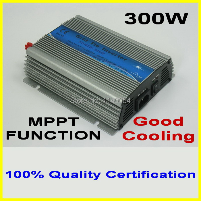 300W MPPT grid tie inverter,10.5-28V DC to AC 110V/220V pure sine wave output solar wind power inverter, 2-year quality warranty new grid tie mppt solar power inverter 1000w 1000gtil2 lcd converter dc input to ac output dc 22 45v or 45 90v