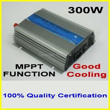 300W MPPT grid tie inverter,10.5-28V DC to AC 110V/220V pure sine wave output solar wind power inverter, 2-year quality warranty