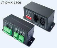 DMX SPI singnal Decoder LT DMX 1809 support WS2811,TM1804,TM1809,TM1812 driving IC, for led dot light,pixel screen digital tube