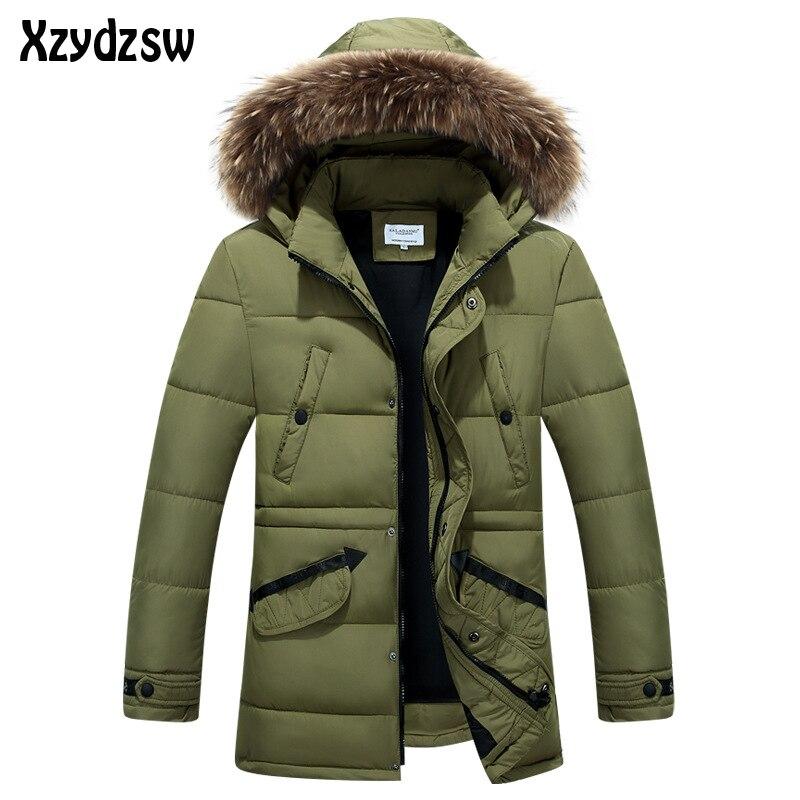 2016 Winterjacke Männer Daunenmantel Marke Kleidung Fang Kalt Warme Freizeitkleidung Winter Jacken Herren Natürlichen Pelzkragen Daunenjacke Jacke Und Verdauung Hilft
