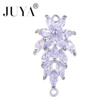 Jewelry Findings Components Luxury Cubic Zirconia Crystal Fl