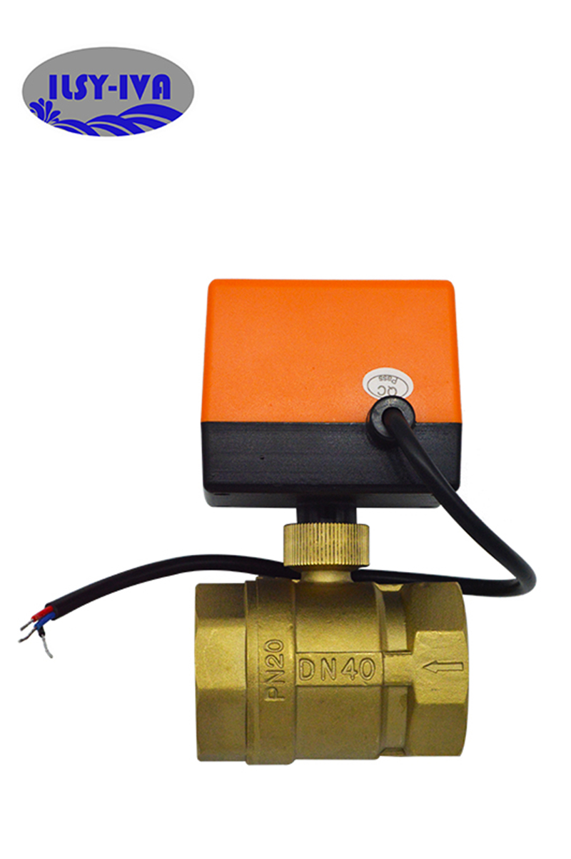 Banjo Electric 3 Way Directional Ball Valve: AC220V DN40 Two Way Brass Switch Type Electric Valves