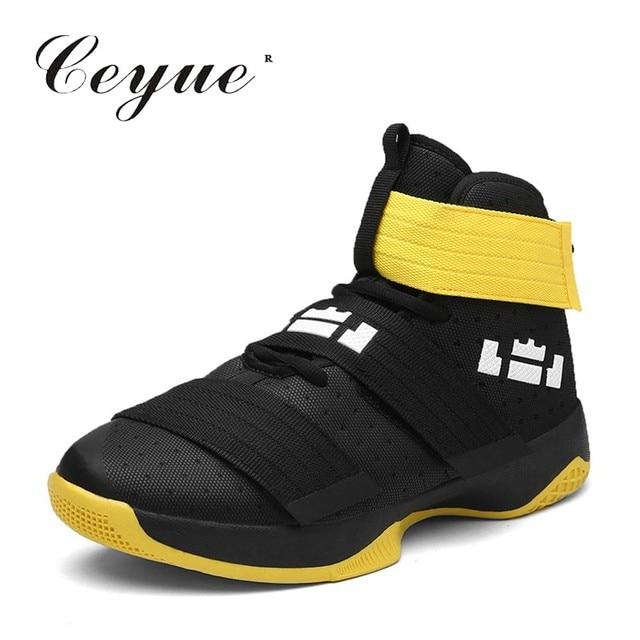 1d77e4c8 Большой размер 45 Баскетбольная обувь Мужские дышащие высокие кроссовки  уличная спортивная обувь мужская спортивная обувь для