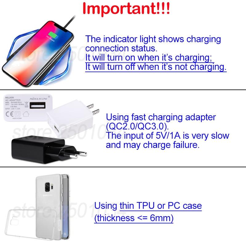 Nillkin Qi Wireless Charging Type-C Receiver+Fast Wireless Charger for  Motorola MOTO Z Play/Z2 Play/Z Force/Z 2018