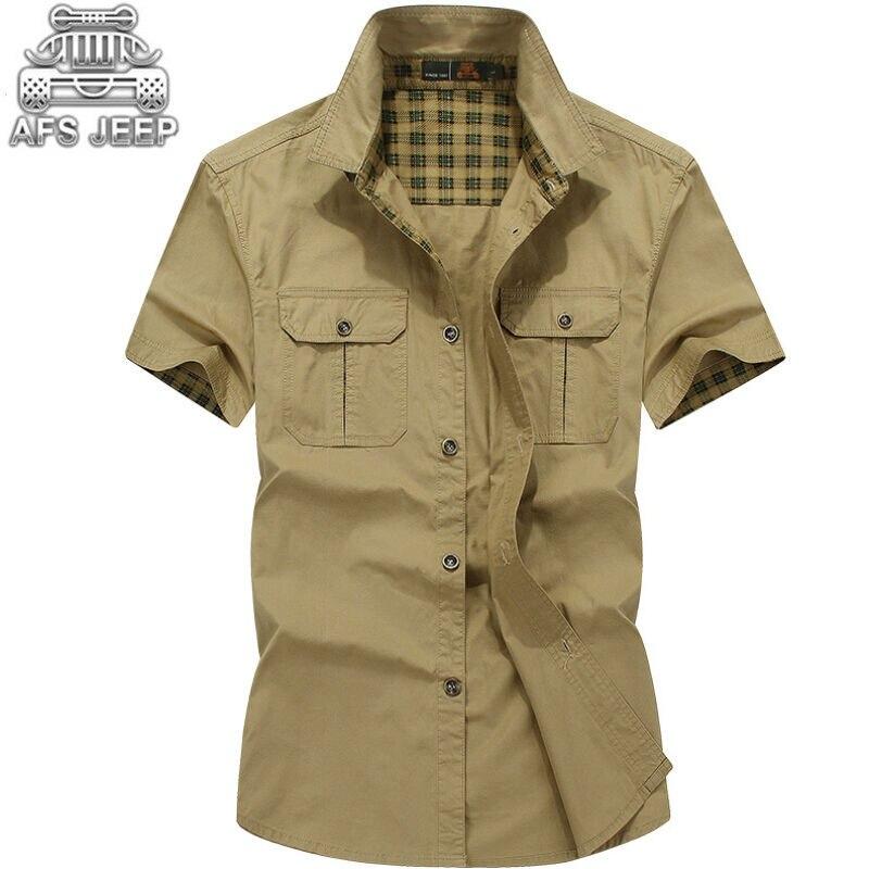 Brand-clothing Men Shirts Size Casual Chemise Homme Short sleeve Military Aeronautica Summer Shirt