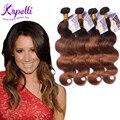 Бразильские волосы девственницы парик Ombre Бразильские пучки волос парик аннабель волос 4 шт. T430 T1b99J T1B27 T1b30 выдвижение человеческих волос