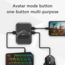 Plug and Play PUBG Mobile Gamepad Controller Gaming Keyboard Mouse Converter for Android Phone Holder to PC Converter Adapter new x1 battledock gaming trigger bluetooth gamepad keyboard mouse converter station for fps mobile games pubg mouse keyboard