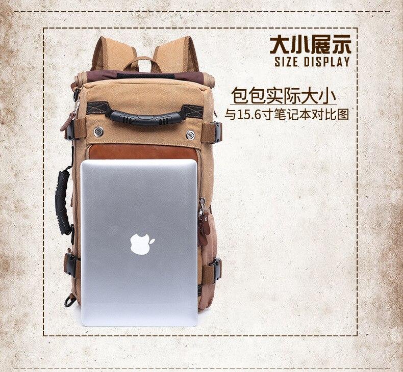 high-capacity canvas backpack Men's Bag Multifunction Laptop backpacks Women School Bags for Male Travel shoulder bag Mochila