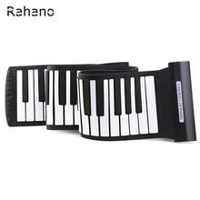 Rahano Arrival Silicone Flexible Keyboard MIDI Roll up Electronic Piano USB 88 Keys Musical Instruments