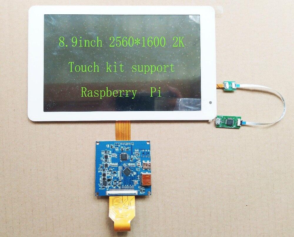 8 9inch 2560 1600 2K HD display kit MIPI To HDMI Supports Raspberry Pi 3 Windows