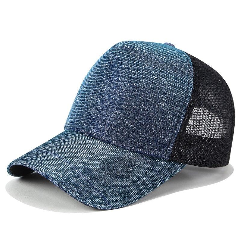 Glitter malla gorra de béisbol del Snapback gorros sombrero del papá de las  mujeres Hip Hop verano señoras moda gradiente hembra tapa ocasional  ajustable en ... db7881d976c