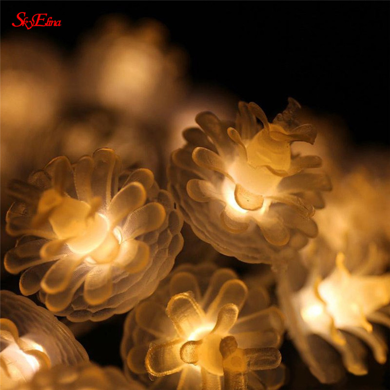Home & Garden 6m/40led Pine Cone Led String Fairy Light Garland Lamp Decorations Party Wedding Decorations 5zmm262 Shrink-Proof