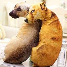 Cojín almohada decorativa con forma de perro 3d, Animal creativo, juguetes para mascotas, almohada de regalo con relleno interior para decoración del hogar