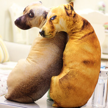 Kreatywny zwierząt 3d śliczny pies kształt poduszki poduszki dekoracyjne poduszki zabawki zwierząt domowych prezent poduszka prezent z wewnętrznej wypełnione wystrój domu