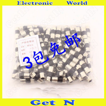300pcs Waterproof Snap & Seal Full-Copper F Connector for 75-5 Cable STB RG6 Coax Connector for both 2 and 4 Shielding Coax