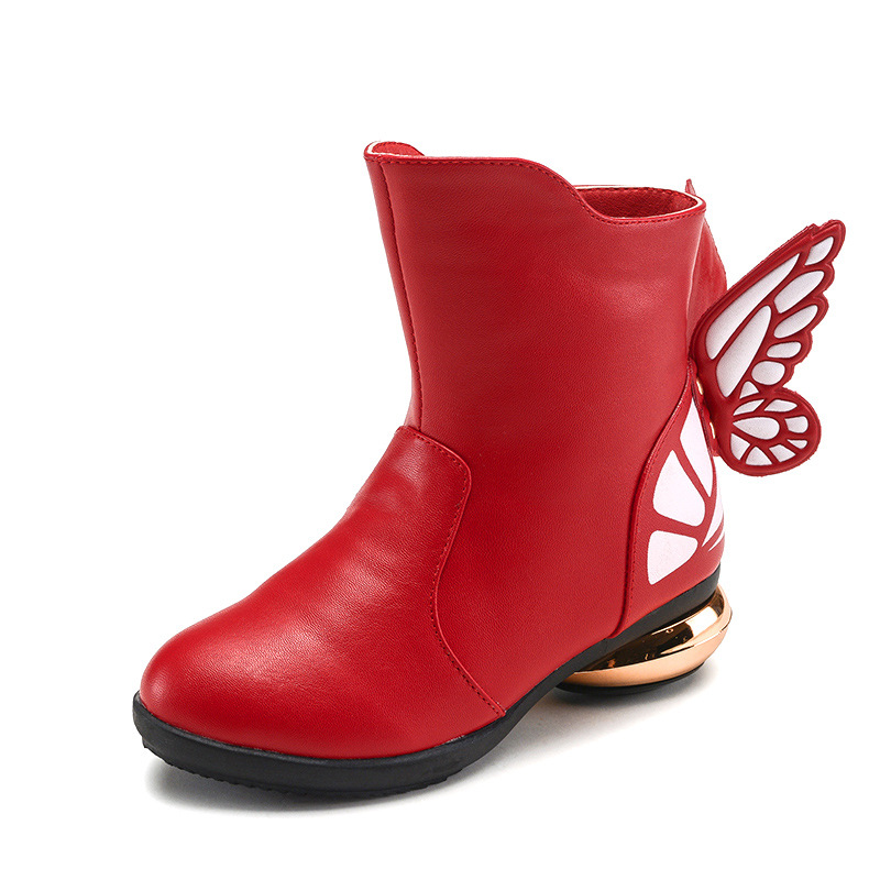 2017 New Kids Shoes For Girl Winter Fashion Boots 2017 New Girls Autumn Shoes Princess Bow Wedges Leather Boots Children' S Shoe 2014 new autumn and winter children s shoes ankle boots leather single boots bow princess boys and girls shoes y 451