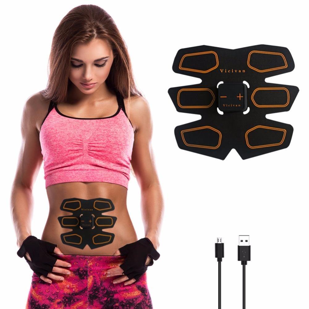 Muscle Stimulator EMS Stimulation USB Charging Muscle Toner Abs Simulator Toning Belt Workouts EMS Training Device Body Massager