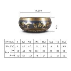 Tibetan Bowl Sing Bowl Nepalese Buddhist Tibetan Chanting Yoga Meditation Bowl Buddhist Sound Therapy Bowl Copper Religion Carft