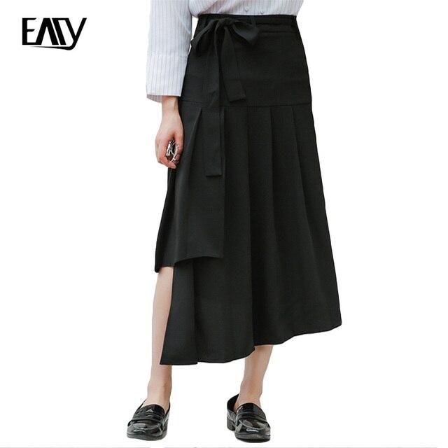 Irregular La Rosa Largas Verano Las Mujeres De Sólido Del Negro Faldas Color Elagant Vendimia OEw6SFxxq