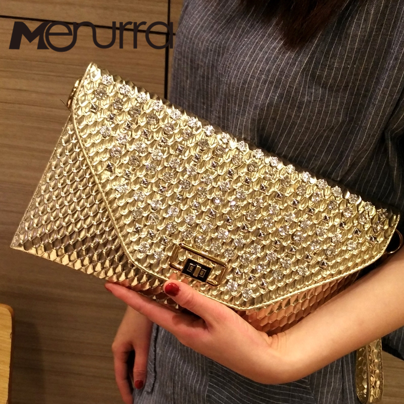 Shoulder Handbag Envelope-Bags Clutch-Bag Crossbody-Bags Messenger Designer Women Diamond