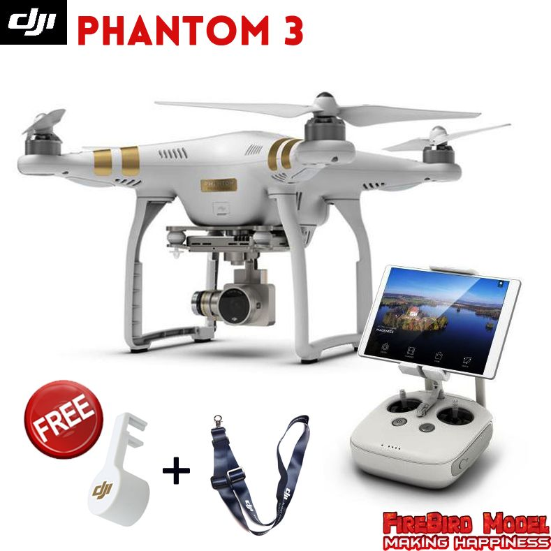 Original DJI Phantom 3 Advanced / Professional Drone with 2.7K / 4K Full HD camera build in GPS system, FPV  live HD video view
