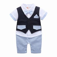 Baby Boys Formal Clothing Kids Attire For Boy Clothes Short Sleeve Baby