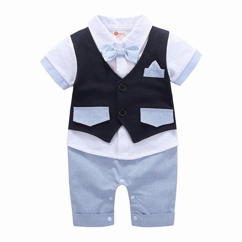 Boys Formal Clothing Kids Attire For Boy Clothes Short Sleeve Baby Romper Children Jumpsuit сыворотка bioline jato serum essential c