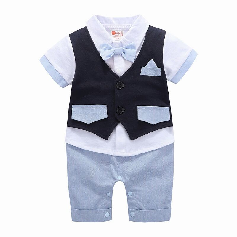Boys Formal Clothing Kids Attire For Boy Clothes Short Sleeve Baby Romper Children Jumpsuit