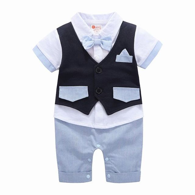 Formal Attire Styled Romper for Baby Boys