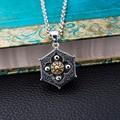 Thai silver jewelry 925 sterling silver Buddha Tibetan Zodiac gossip safe men's necklace pendant