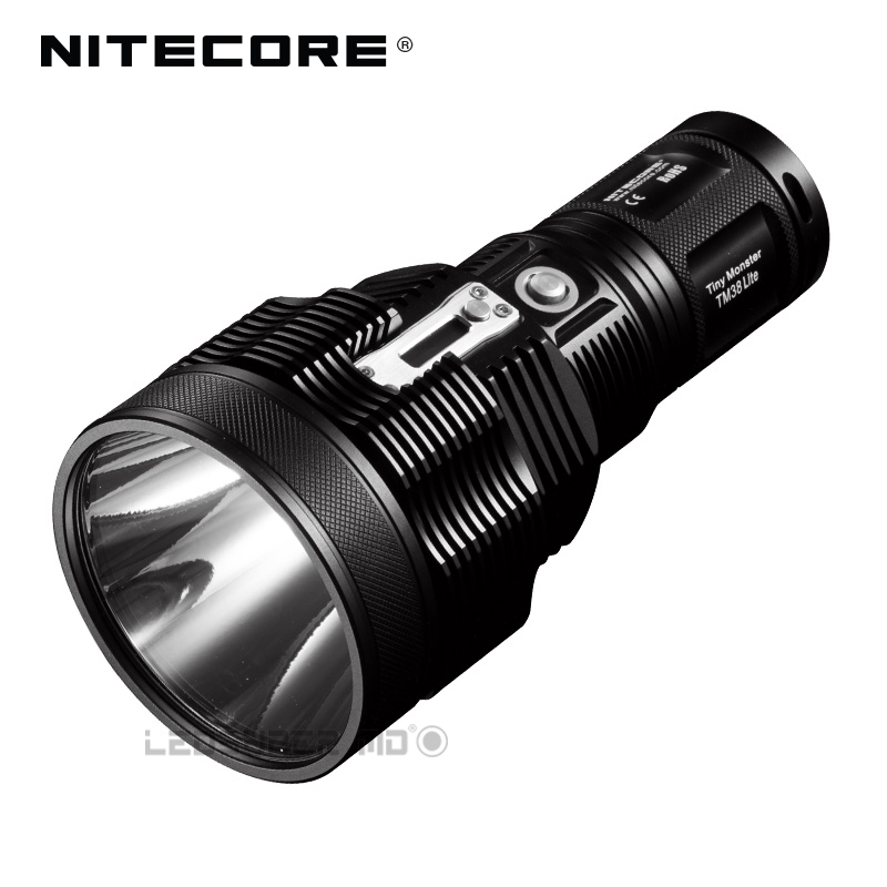 Tiny Monster Series Nitecore TM38 Lite CREE XHP35 HI D4 LED 1800 Lumens Rechargeable Searchlight With Beam Distance 1400 Meters 2017 new nitecore tm38 lite tiny monster cree xhp35 hi d4 1800 lumen long throw rechargeable led flashlight