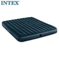 فراش INTEX 64735 2-3 أشخاص 183*203*25 سنتيمتر يتدفق مع شريط هوائي للسرير فائق الشدة قابل للنفخ مرتبة هوائية للتخييم
