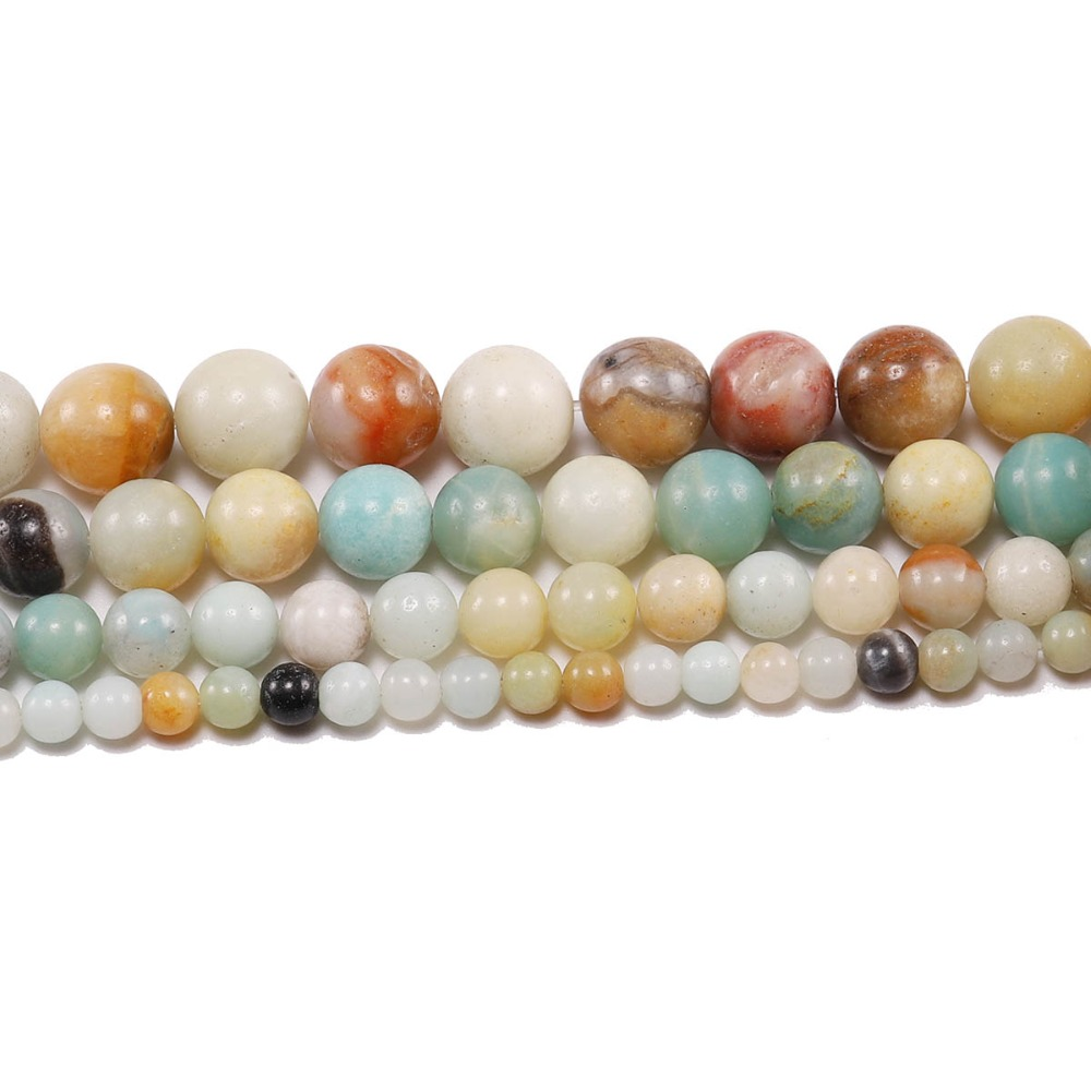 Flight Tracker 4 6 8 10 12 Mm Matte Amazonite Round Natural Stone Beads Spacer Bead For Jewelry Making Diy Necklaces Bracelets Bulk Wholesale Pure And Mild Flavor Jewelry & Accessories