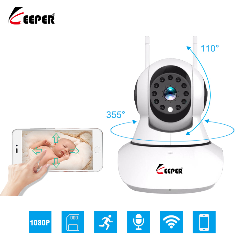 Keeper HD 1080P 2.0MP IP камера беспроводной WIFI видеонаблюдение P2P камера 1920*1080 Ночное видение камера видеонаблюдения видеоняня