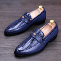 Nova moda vestido de casamento dos homens de escritório cobra grão genuíno sapatos de couro deslizamento em preguiçosos mocassins condução oxfords sapato verão zapatos