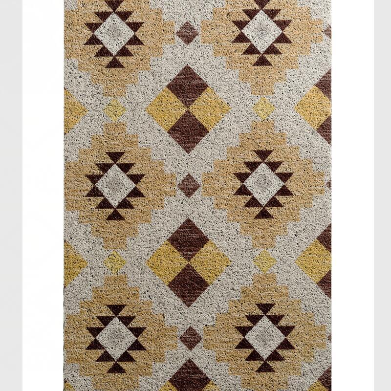 Grande taille Plaid imprimé tapis de sol anti-dérapant pour porche balcon couloir entrée, haute qualité PVC porte tapis décor à la maison porte tapis