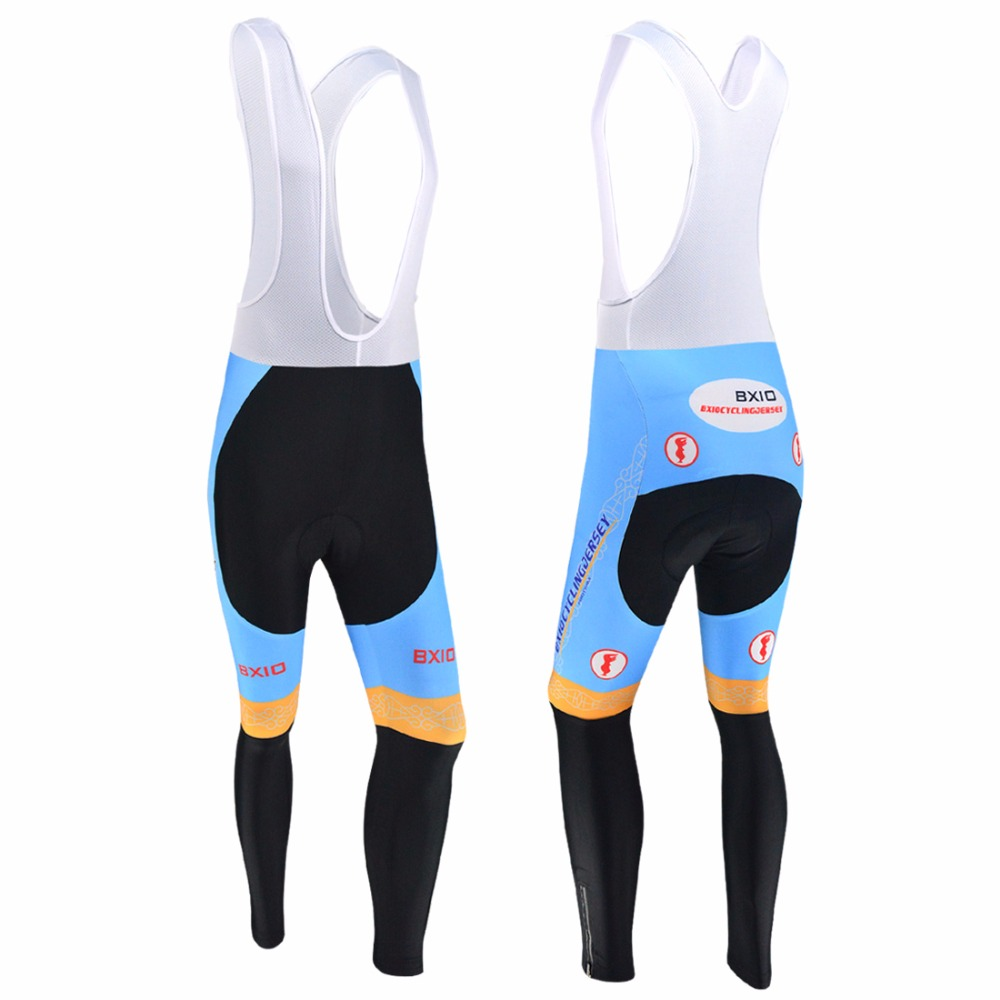 BXIO Brand Winter Thermal Fleece Cycling Pants 3D Gel Pad Windproof Bike Warm Long Trousers Autumn Pro Team Bicycle Jerseys 016P