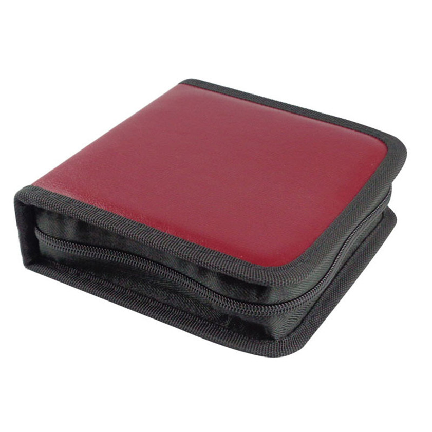 11.11 High Quality New 40 CD DVD Disc Organizer Storage Cover Carry Case Holder Box Bag