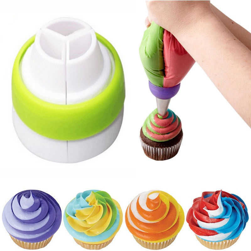 Russian Icing Piping Nozzles Tips Cream Pastry Bag Tricolor Converter Cake Decorating Tools Set Pastry Tools Baking accessories