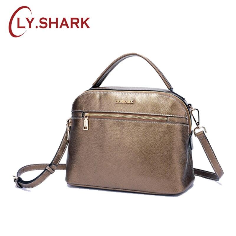 LY. SHARK weibliche tasche damen echtes leder frauen tasche schulter messenger tasche frauen handtasche große berühmte marke designer mode tote