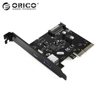 ORICO USB3 1 10 Gbps PCI E Expansion Card Type C Dual Port ASM1142 Chipset Express